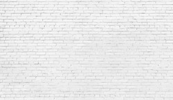 white brick wall, texture of whitened masonry as a background