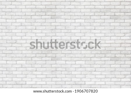 white brick wall texture used to make background suitable for interior and exterior home.
