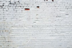 White brick wall useful as a background