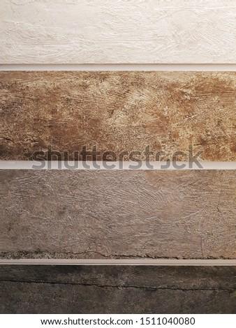 white, brown, ligth brown and dark brown ceramic tiles