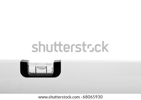 White bubble level isolated over white
