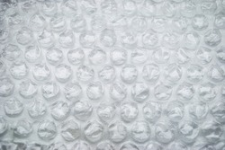 White bubble wrap packaging or air bags