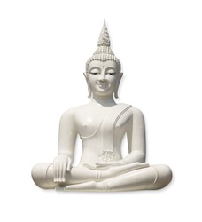 White Buddha, isolated against white background (incl. clipping path)