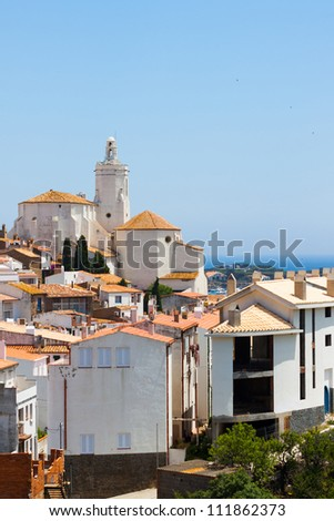 White building in Spain with sea
