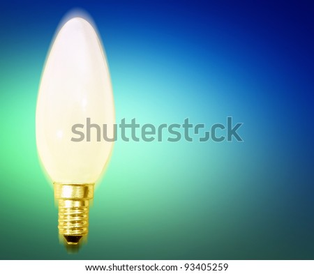 White bulb isolated with coppy-space