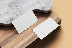 white business card mockup blank for your business card design