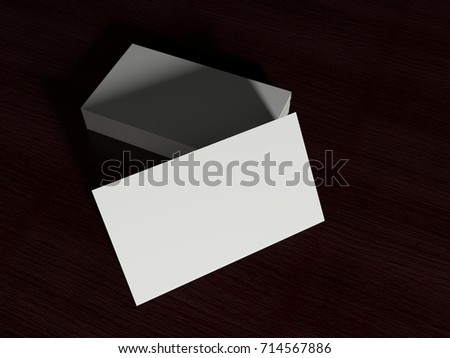 White business cards on a dark background template 3d rendering white business cards on a dark background template 3d rendering fbccfo Image collections