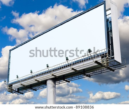 White Canvas Billboard Copyspace