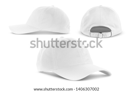 white canvas fabric cap for premium gift design mock-up isolated on white background