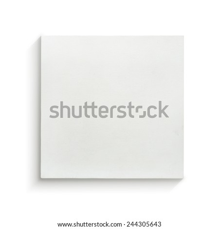 White canvas frame on white background. #244305643
