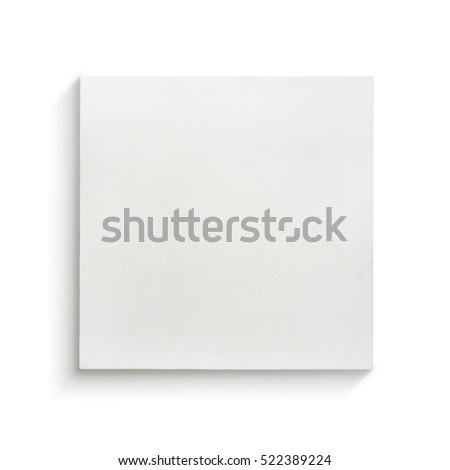 White canvas frame on white background. #522389224