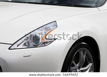 White Car headlight