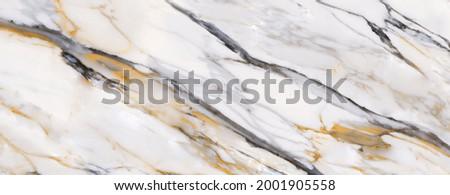 white carrara statuario marble texture background, calacatta glossy marble with brown streaks across the surface, satvario tiles, banco superwhite, italian blanco stone texture for digital wall tile. Stockfoto ©