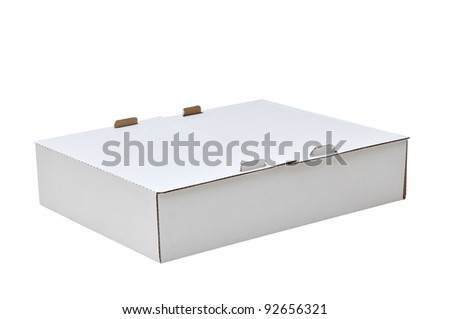 white carton pizza box