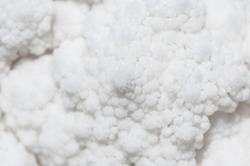 White Cauliflower detail close-up pattern texture abstract backdrop organic