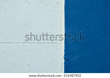 White cement and blue cement background