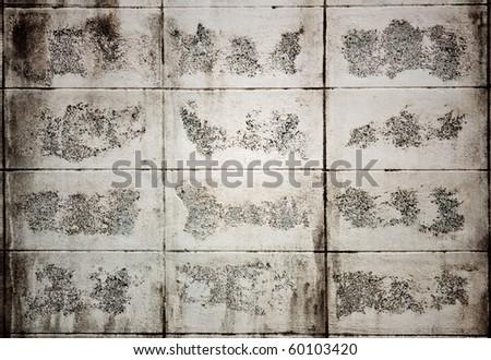 White cement brick wall