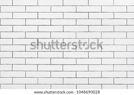 White ceramic tiles wall  texture background #1048690028