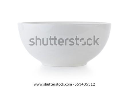 white ceramics bowl isolated on white background Stock photo ©