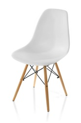 White chair, isolated on white