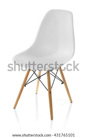 White chair, isolated on white #431765101