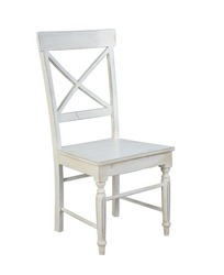 white chair isolated on white background