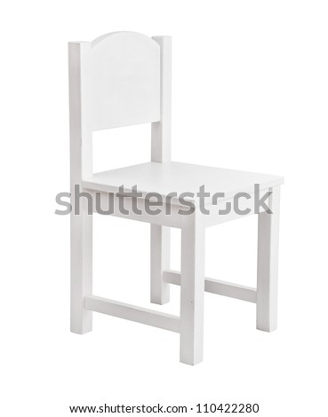 White chair isolated onwhite background