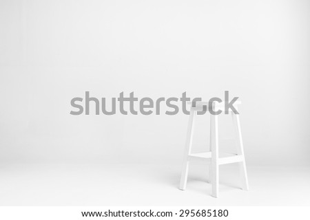 white chair with white background