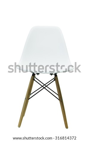 White chairs and leg wooden isolate on white background. #316814372