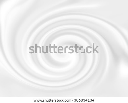 White cheese cream.  Creamy dairy product. Tasty liquid texture of milky smooth product. Snowy white mousse texture. Sweet food silky texture. Yogurt swirl abstract conceptual background.