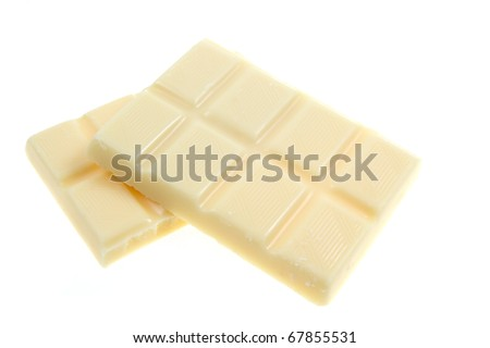 White chocolate isolated on white