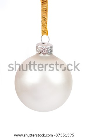 White christmas ball, isolated on white