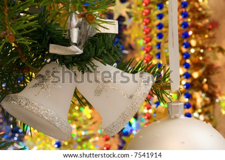 white christmas bells decorations