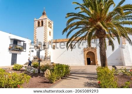 White church of Betancuria, west coast of the island of Fuerteventura, Canary Islands. Spain