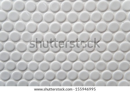 White circle tile pattern with for background