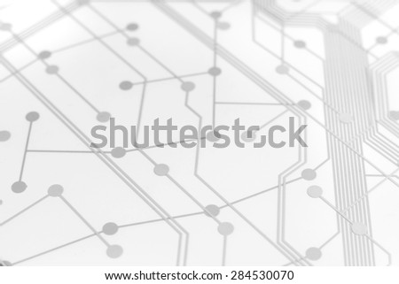 White Circuit Board used for keyboard with connection links