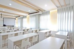 White class room.