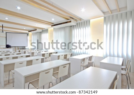 White class room.