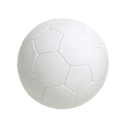 White classic soccer ball isolated