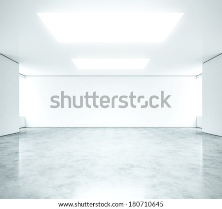 White clean office