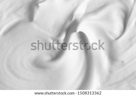 White cleanser foam texture background. Cosmetic mousse, foamy soap, shampoo suds, skin care background #1508313362
