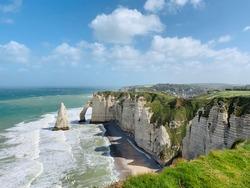 White Cliffs in Etretat Normandy