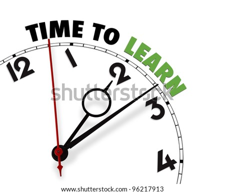 White clock with words Time for Action on its face CLIPPING PATH
