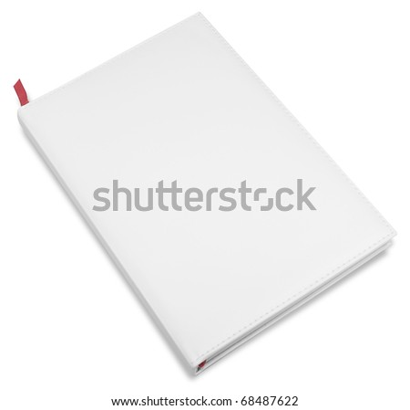 white closed business book isolated over white background