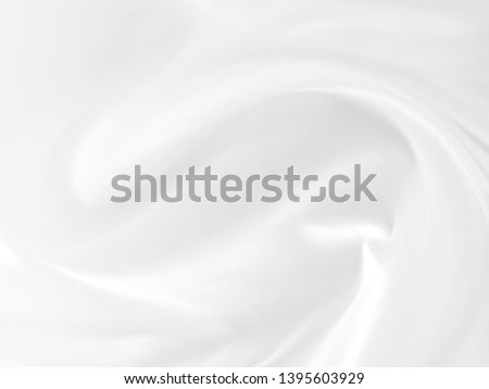 White cloth abstract background soft waves.Texture,background,pattern.White fabric background abstract with soft waves. #1395603929