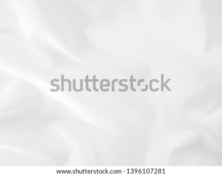 White cloth abstract background soft waves.Texture,background,pattern.White fabric background abstract with soft waves. #1396107281