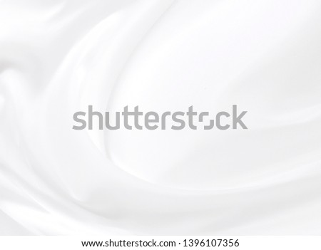 White cloth abstract background soft waves.Texture,background,pattern.White fabric background abstract with soft waves. #1396107356