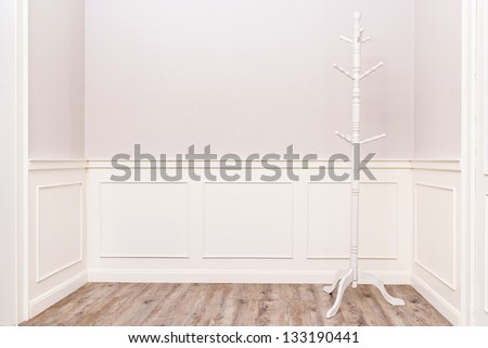 white cloth hanger in vintage cozy room