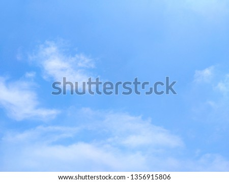 White cloud and beautiful blue sky - Air clouds in the blue sky. - Blue backdrop in the air - subtle background