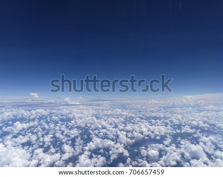 White cloud and blue sky background. #706657459